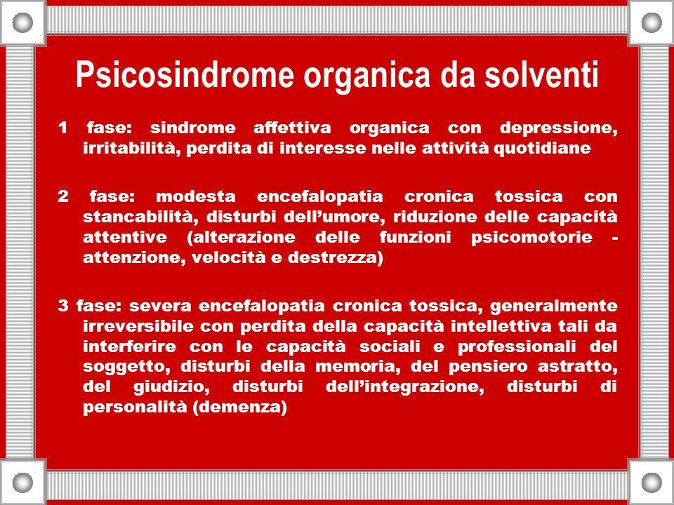 Psicosindrome organica da solventi