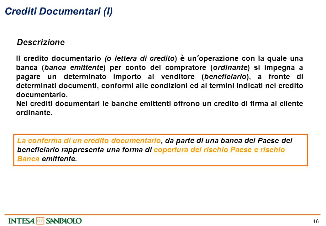 Crediti Documentari (II)
