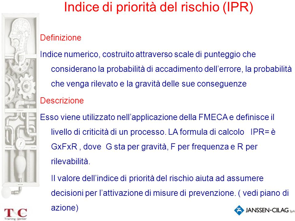 Indice di priorità del rischio (IPR)