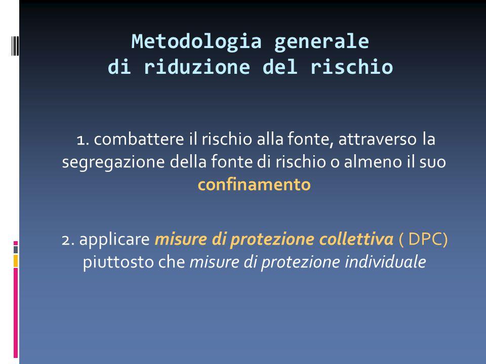 Metodologia generale di riduzione del rischio