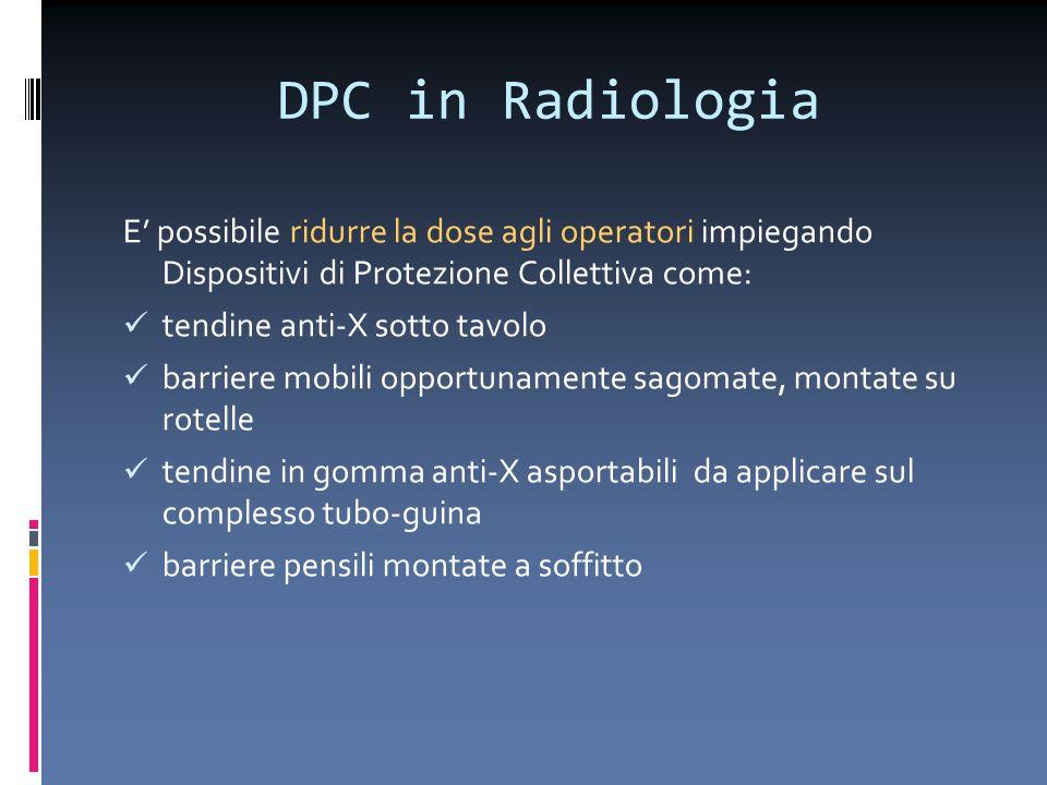 DPC in Radiologia E' possibile ridurre la dose agli operatori impiegando Dispositivi di Protezione Collettiva come: