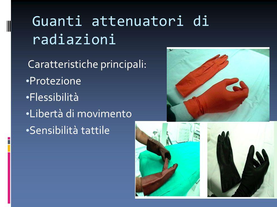 Guanti attenuatori di radiazioni