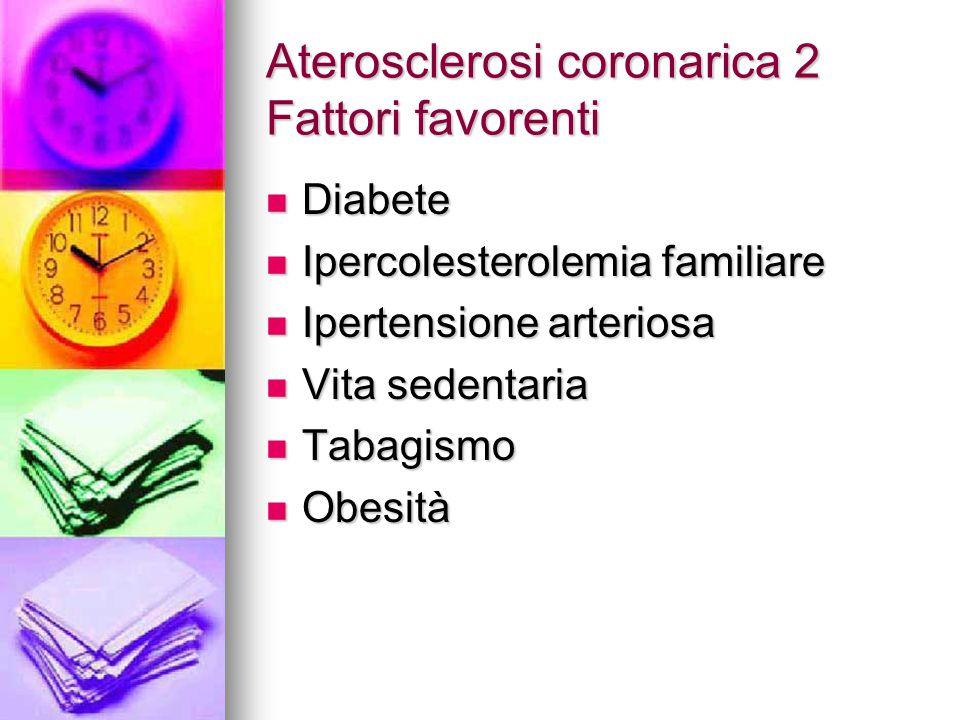 Aterosclerosi coronarica 2 Fattori favorenti