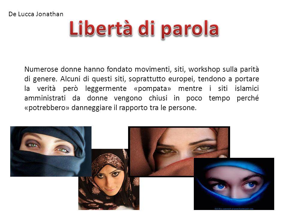 De Lucca Jonathan Libertà di parola.