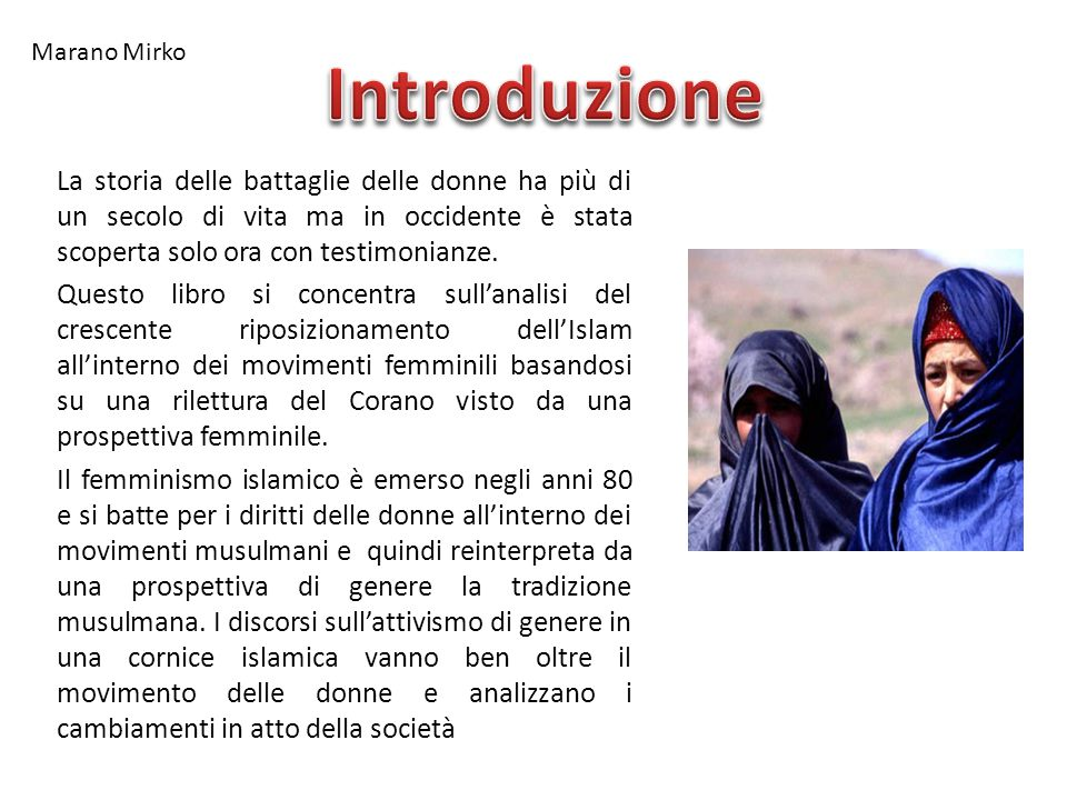 Marano Mirko Introduzione.