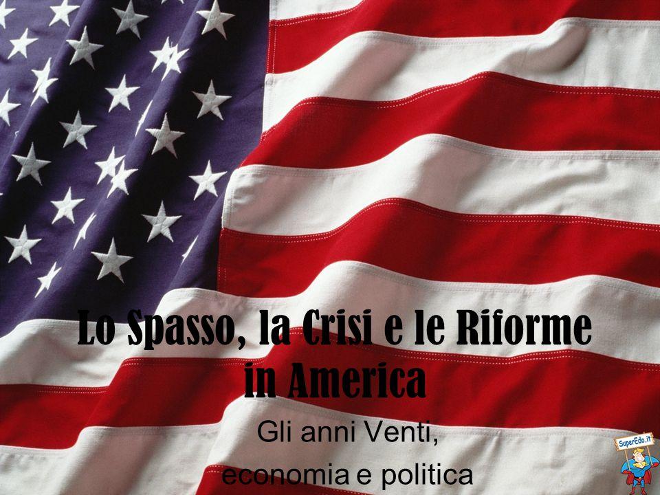 Lo Spasso, la Crisi e le Riforme in America