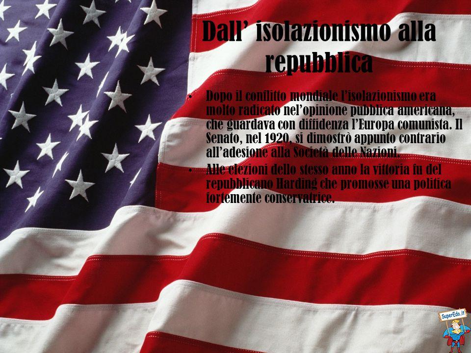 Dall' isolazionismo alla repubblica