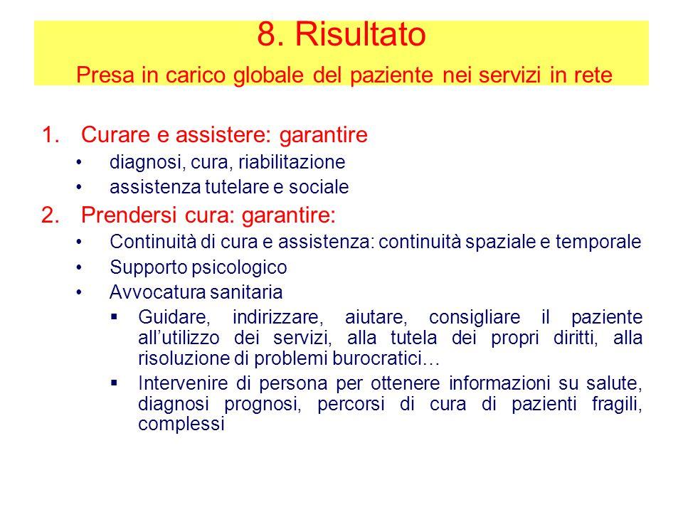 Presa in carico globale del paziente nei servizi in rete