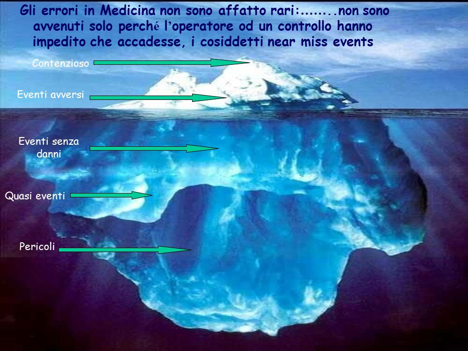 Gli errori in Medicina non sono affatto rari:……