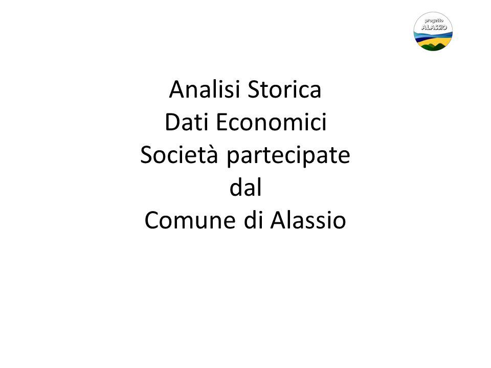 Analisi Storica Dati Economici Società partecipate dal Comune di Alassio