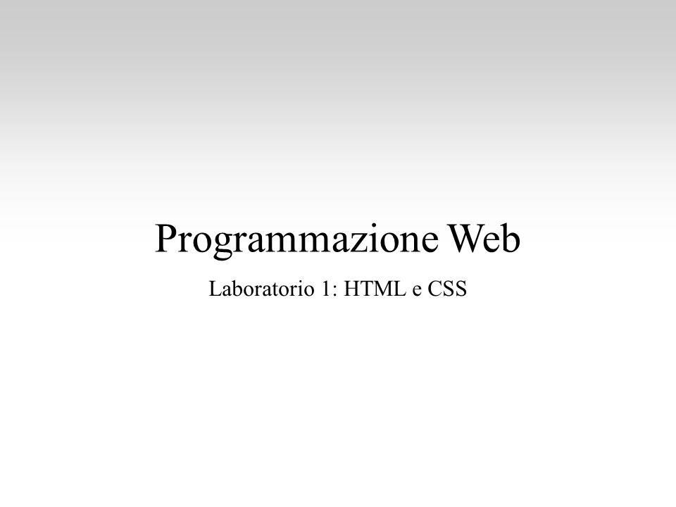 Laboratorio 1: HTML e CSS