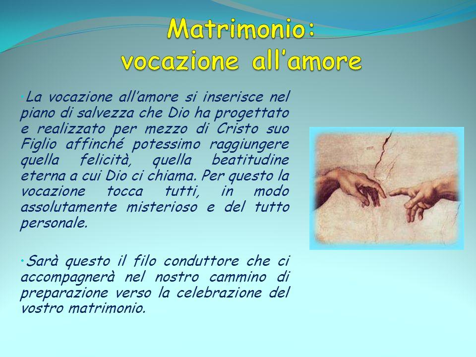 Matrimonio: vocazione all'amore