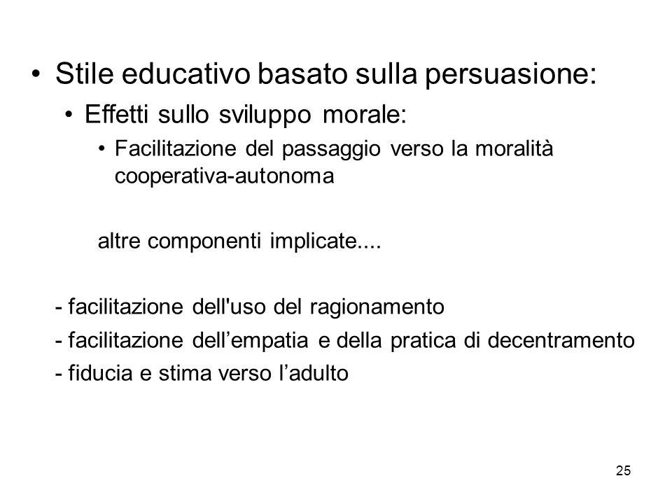 Stile educativo basato sulla persuasione: