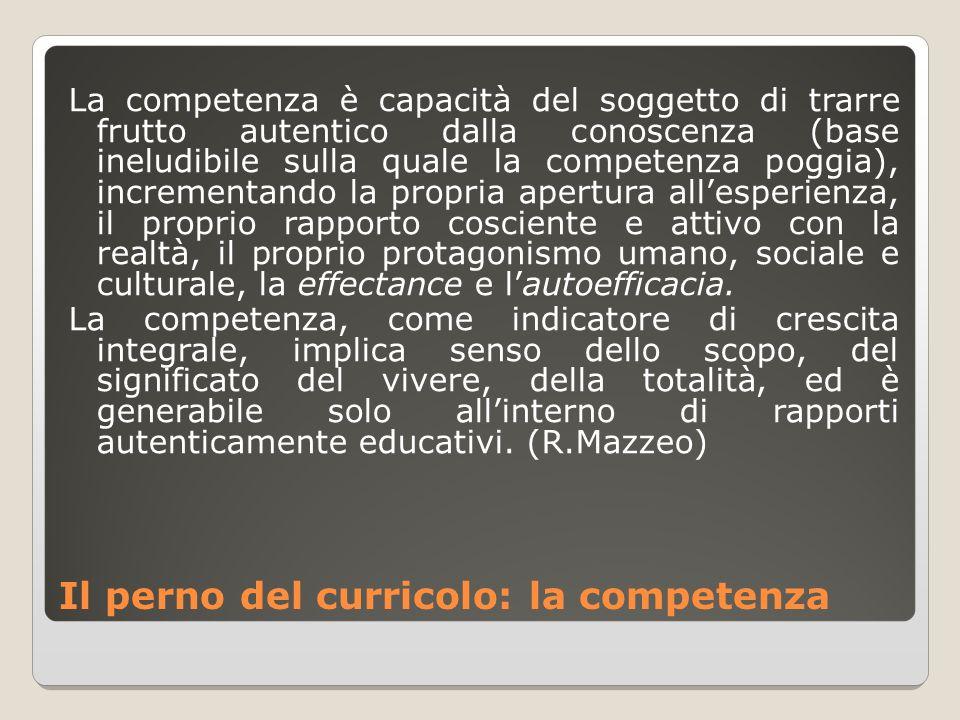 Il perno del curricolo: la competenza