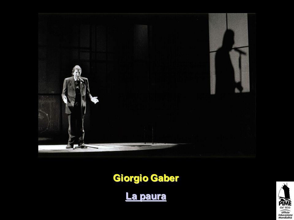Giorgio Gaber La paura