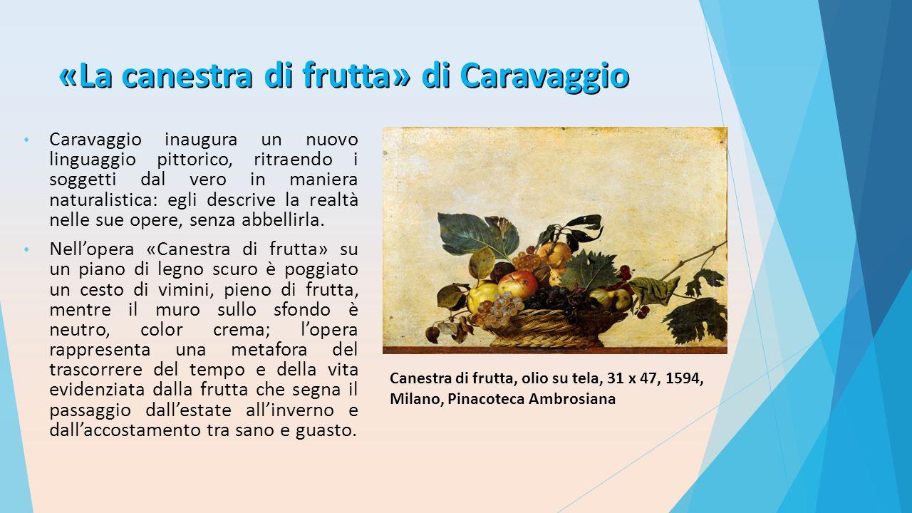 «La canestra di frutta» di Caravaggio
