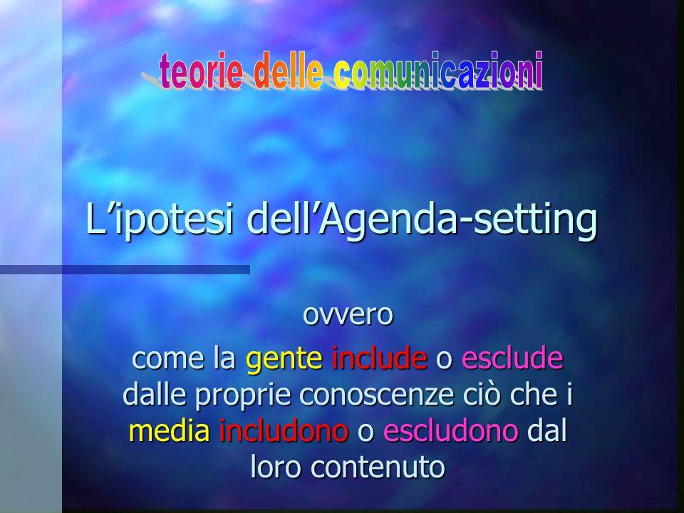 L'ipotesi dell'Agenda-setting