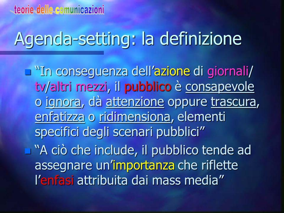 Agenda-setting: la definizione