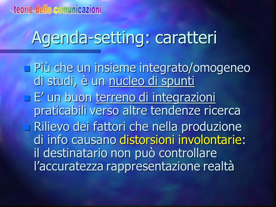 Agenda-setting: caratteri