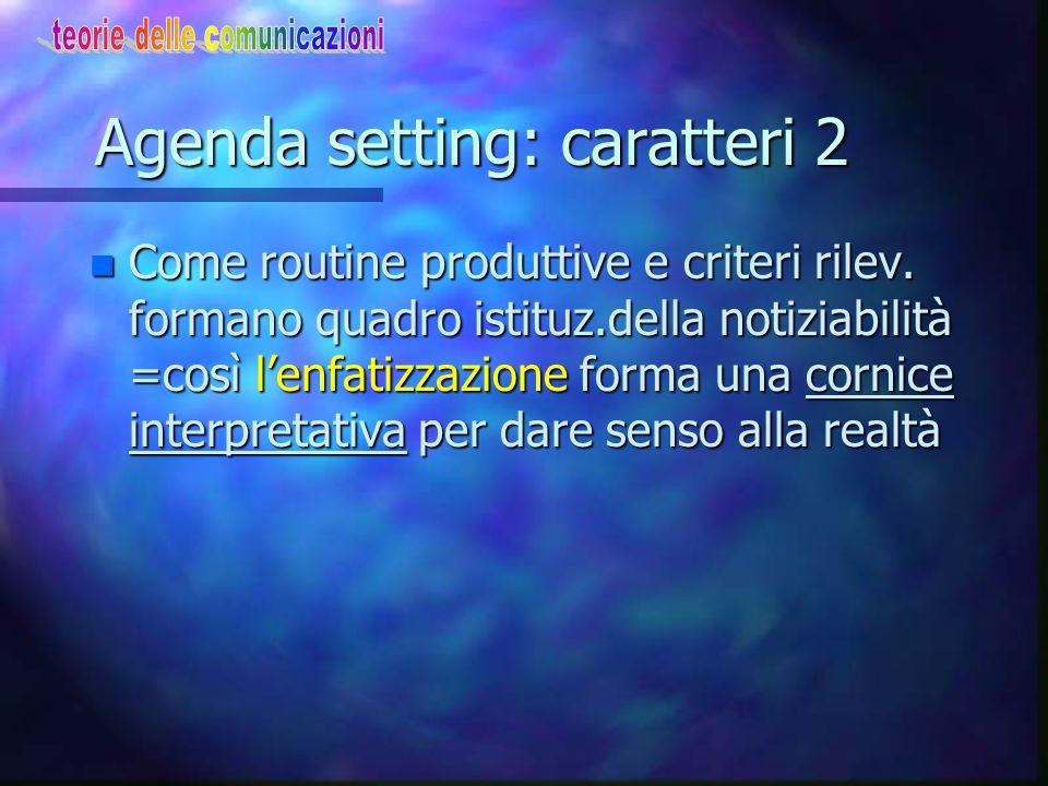 Agenda setting: caratteri 2