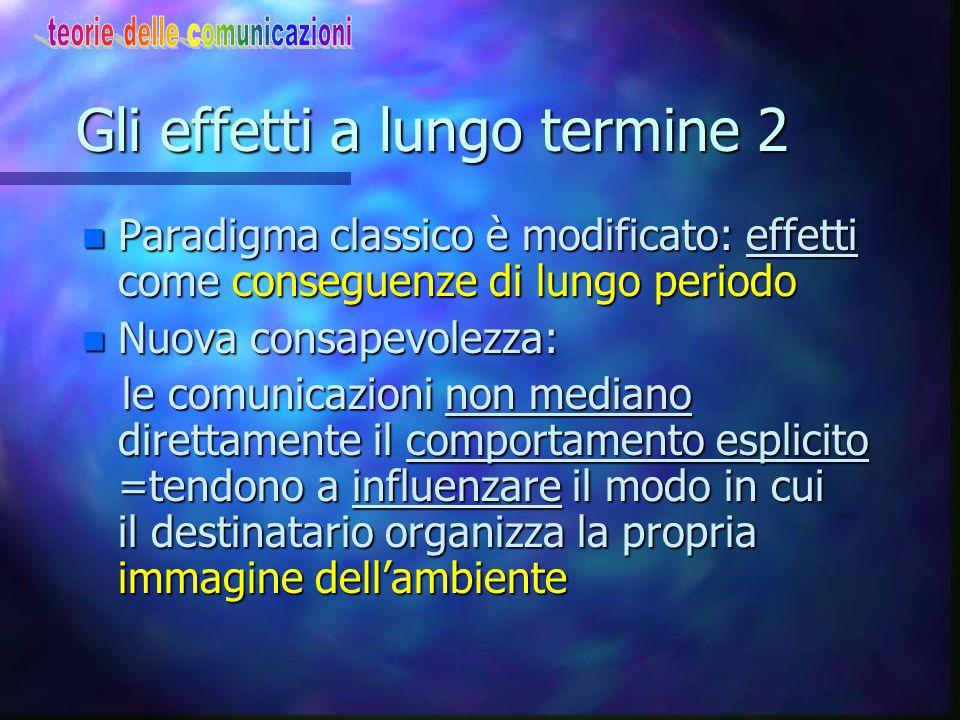 Gli effetti a lungo termine 2