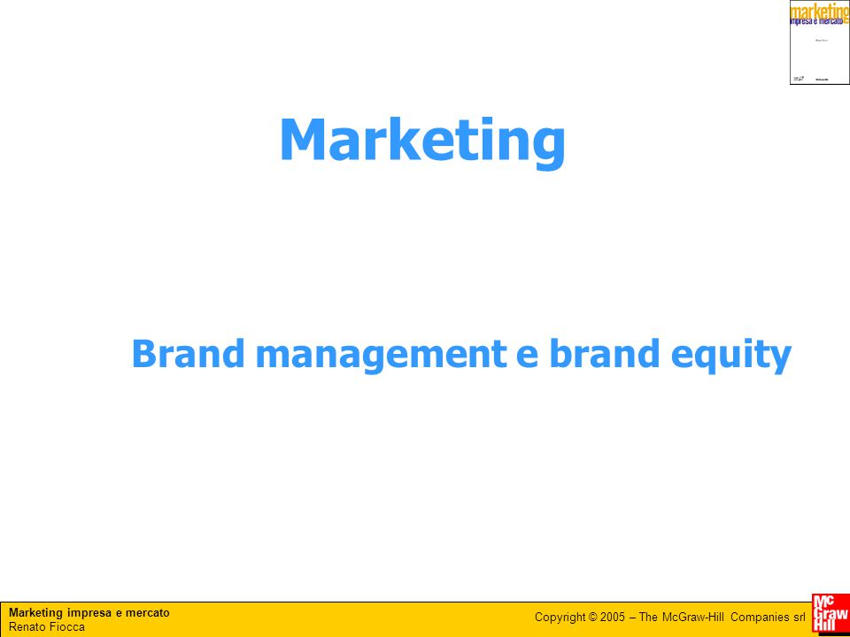 Marketing Brand management e brand equity