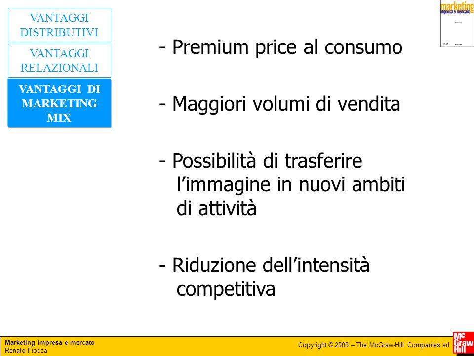 VANTAGGI DI MARKETING MIX