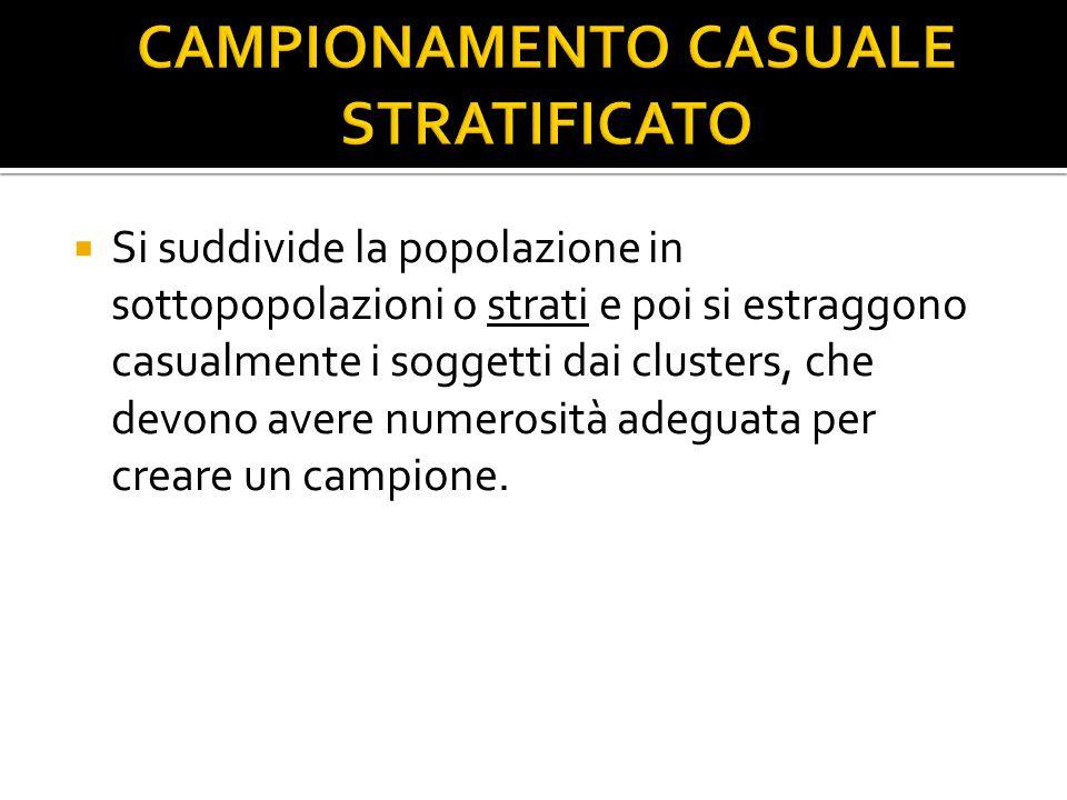 CAMPIONAMENTO CASUALE STRATIFICATO
