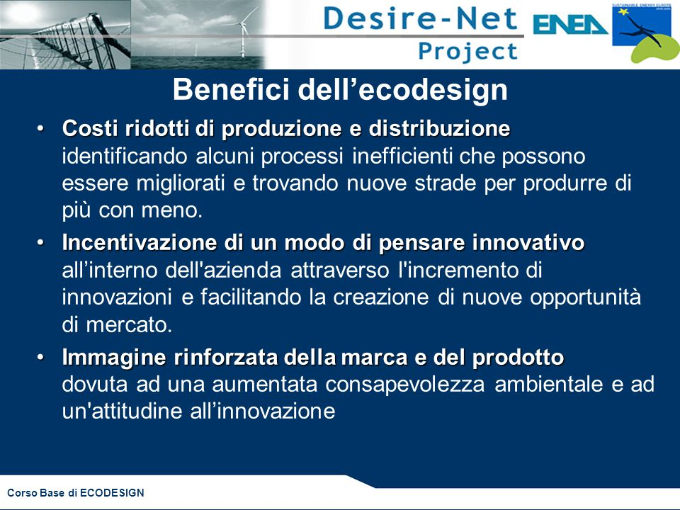 Benefici dell'ecodesign