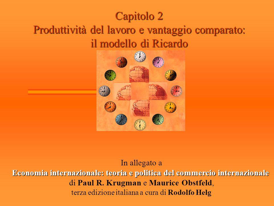 Produttività del lavoro e vantaggio comparato: il modello di Ricardo