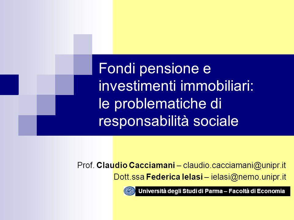 Prof. Claudio Cacciamani Dr.ssa Federica Ielasi