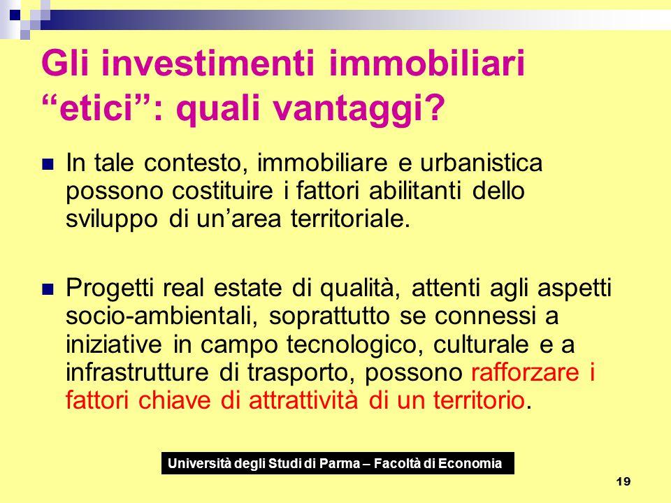 Gli investimenti immobiliari etici : quali vantaggi