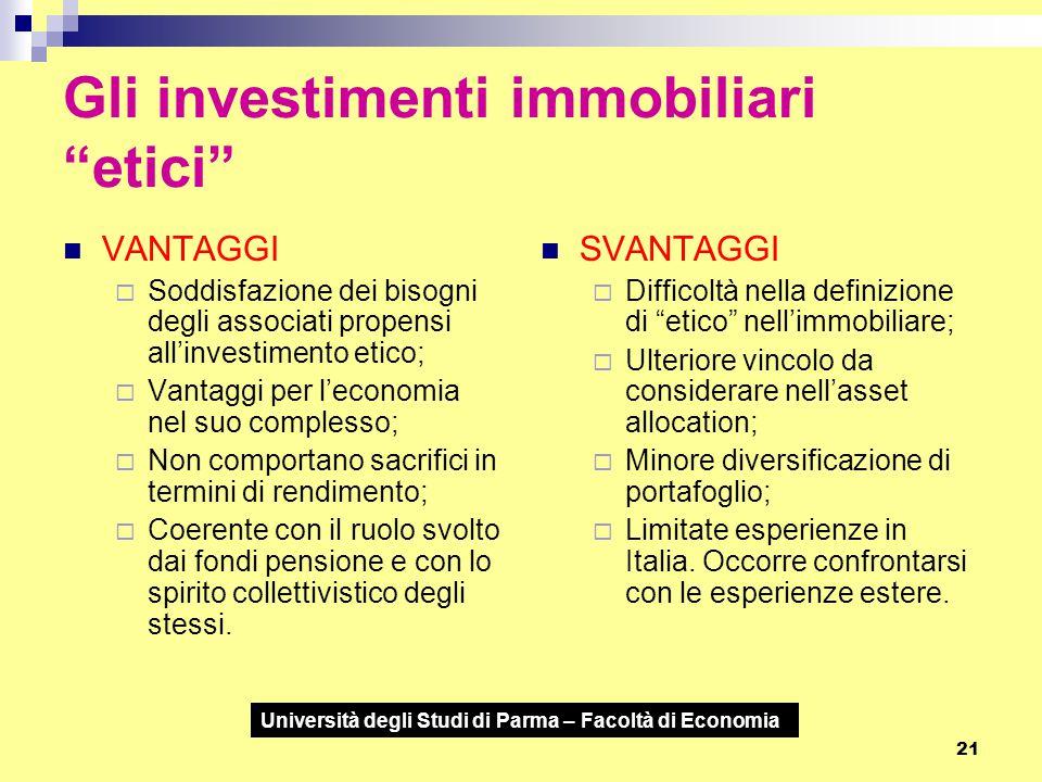 Gli investimenti immobiliari etici