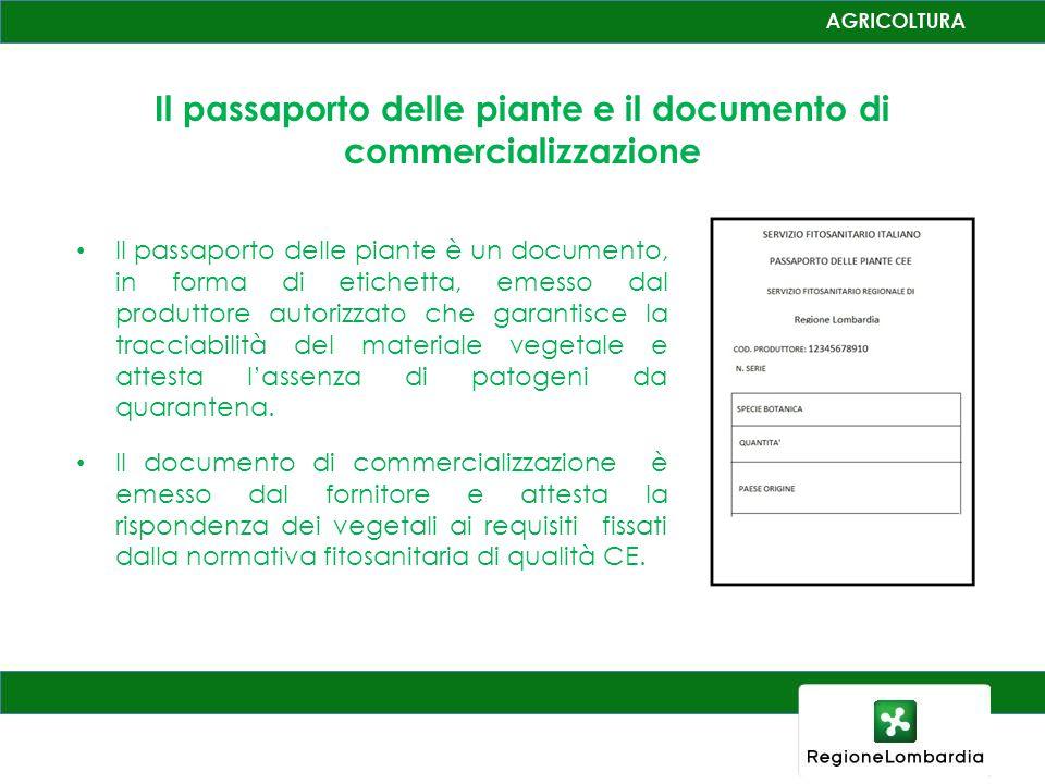 Il passaporto delle piante e il documento di commercializzazione