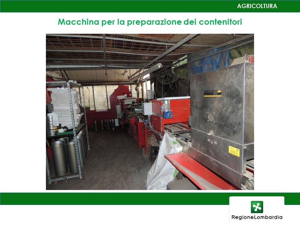 Macchina per la preparazione dei contenitori