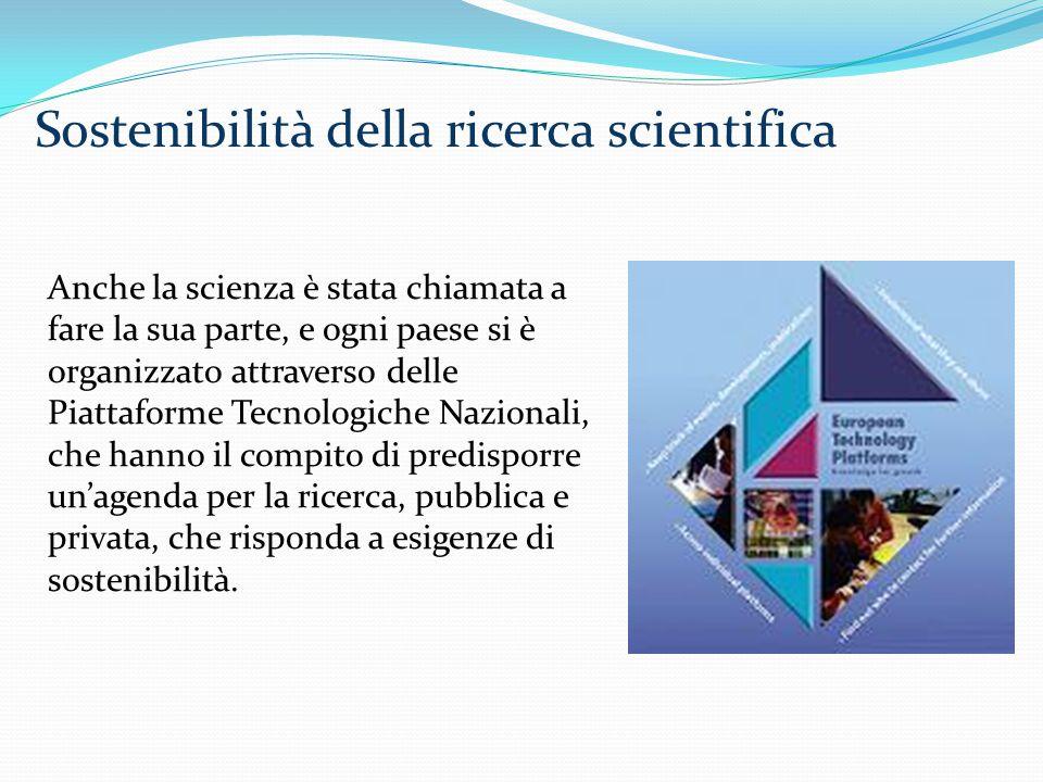 Sostenibilità della ricerca scientifica