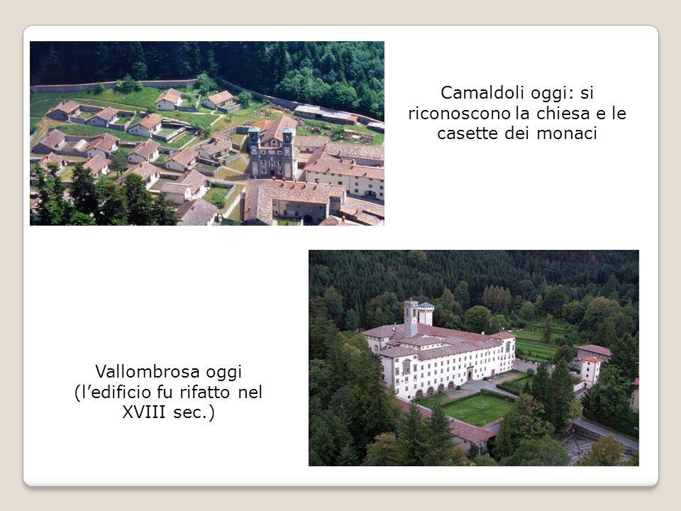 Camaldoli oggi: si riconoscono la chiesa e le casette dei monaci