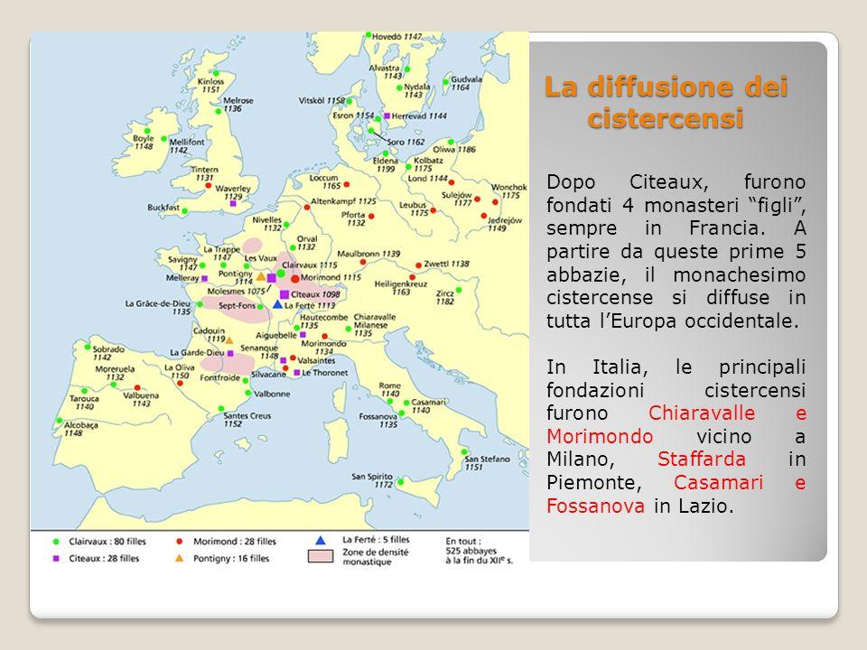 La diffusione dei cistercensi