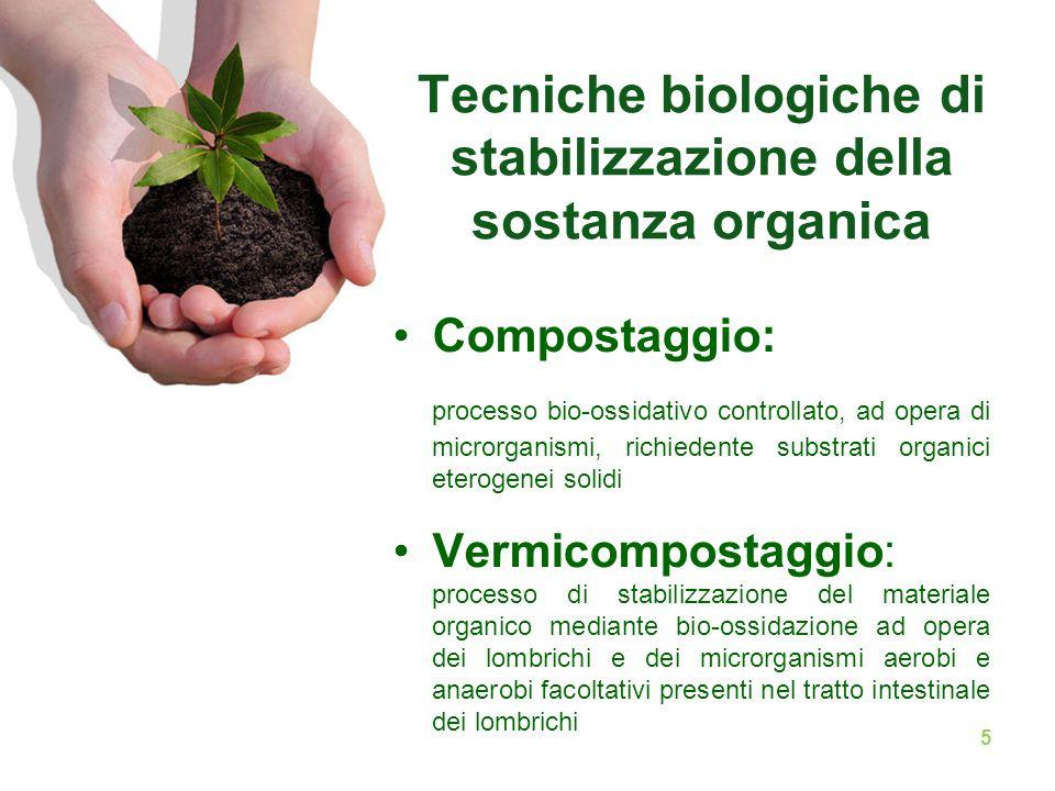 Tecniche biologiche di stabilizzazione della sostanza organica