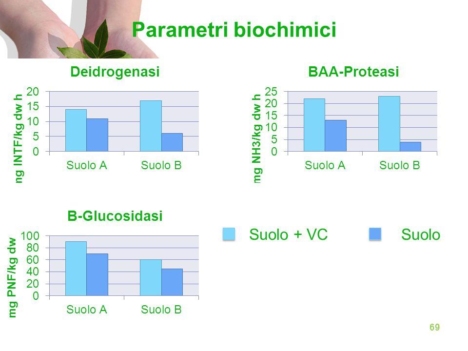 Parametri biochimici Suolo + VC Suolo