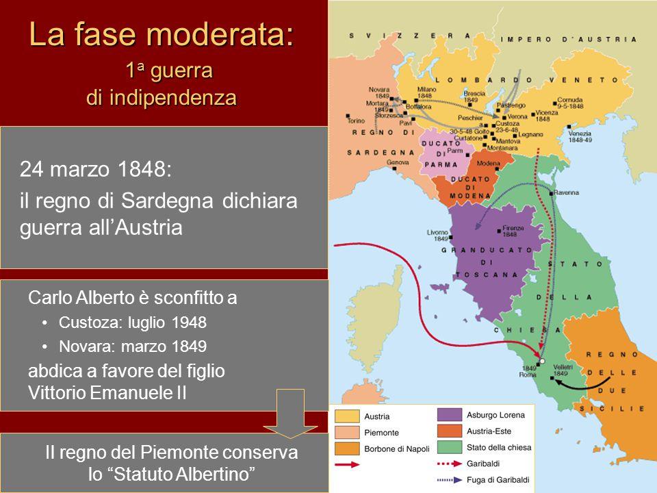 La fase moderata: 1a guerra di indipendenza
