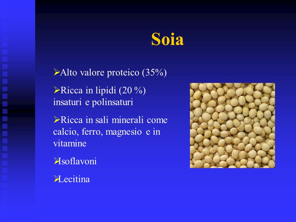 Soia Alto valore proteico (35%)