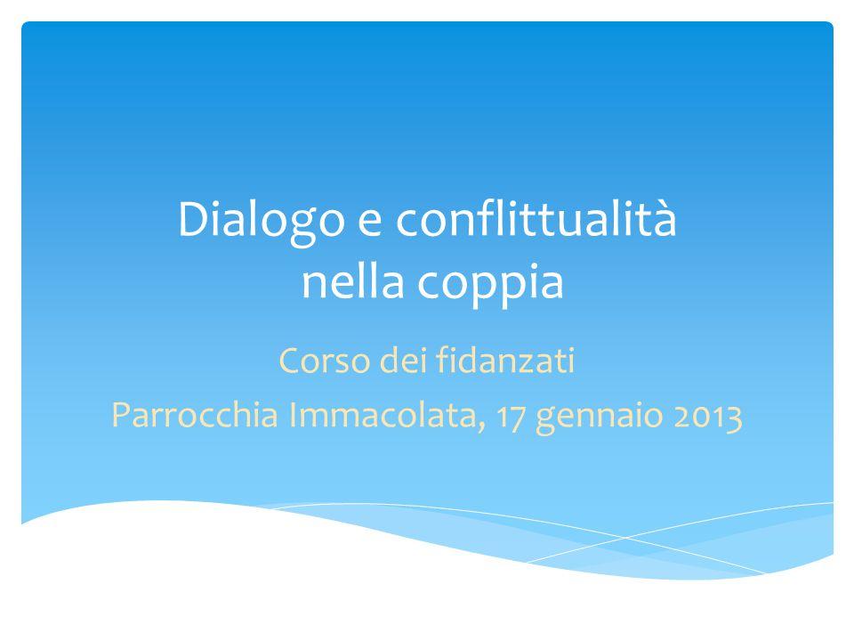 Dialogo e conflittualità nella coppia