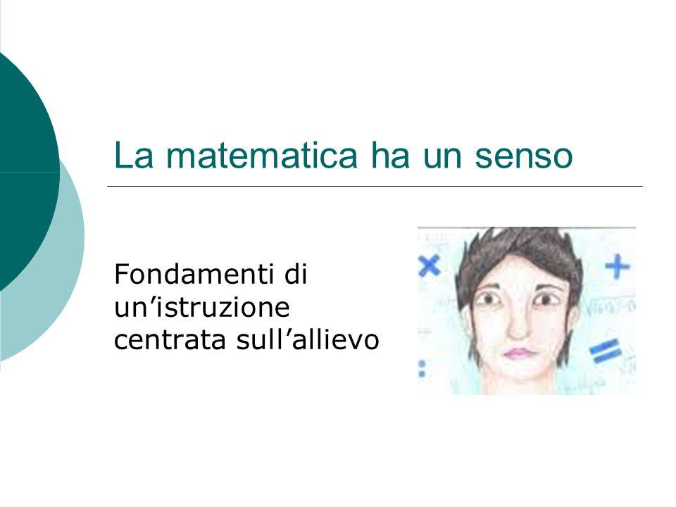 La matematica ha un senso