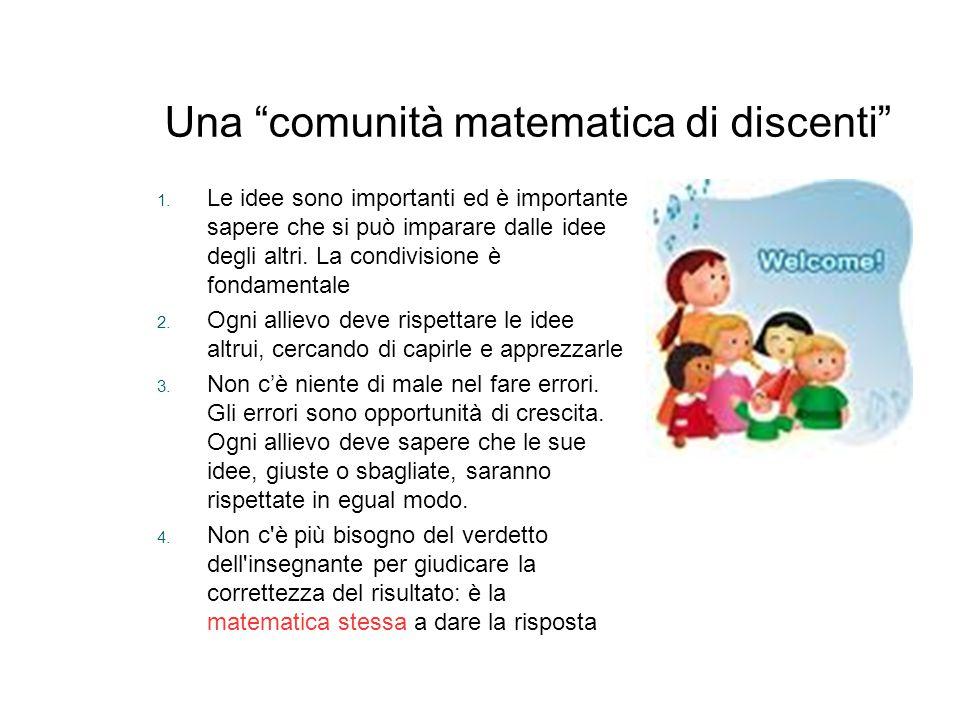 Una comunità matematica di discenti