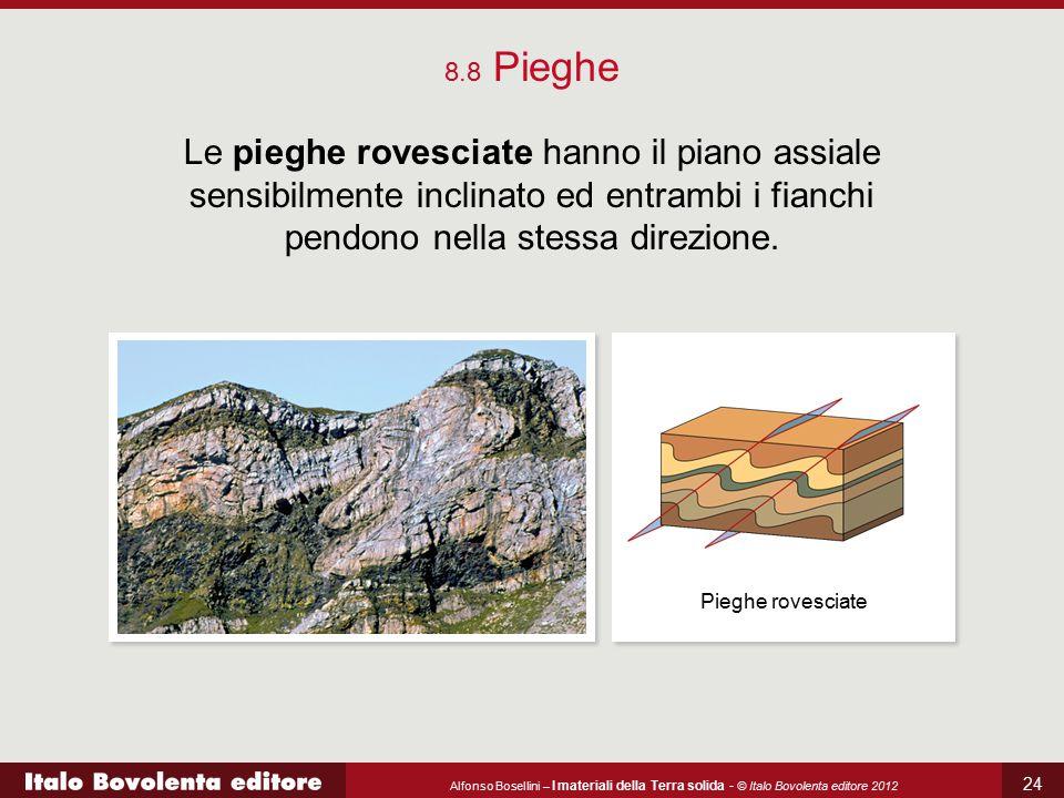 8.8 Pieghe Le pieghe rovesciate hanno il piano assiale sensibilmente inclinato ed entrambi i fianchi pendono nella stessa direzione.