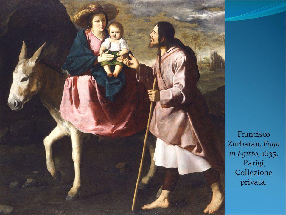 Francisco Zurbaran, Fuga in Egitto, 1635, Parigi, Collezione privata.