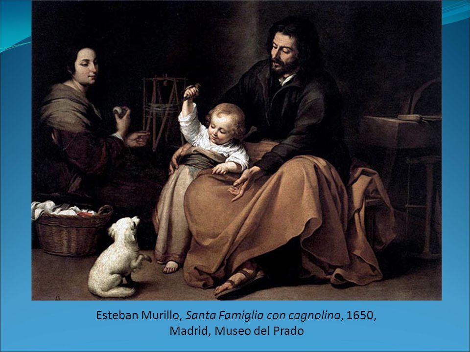 Esteban Murillo, Santa Famiglia con cagnolino, 1650, Madrid, Museo del Prado