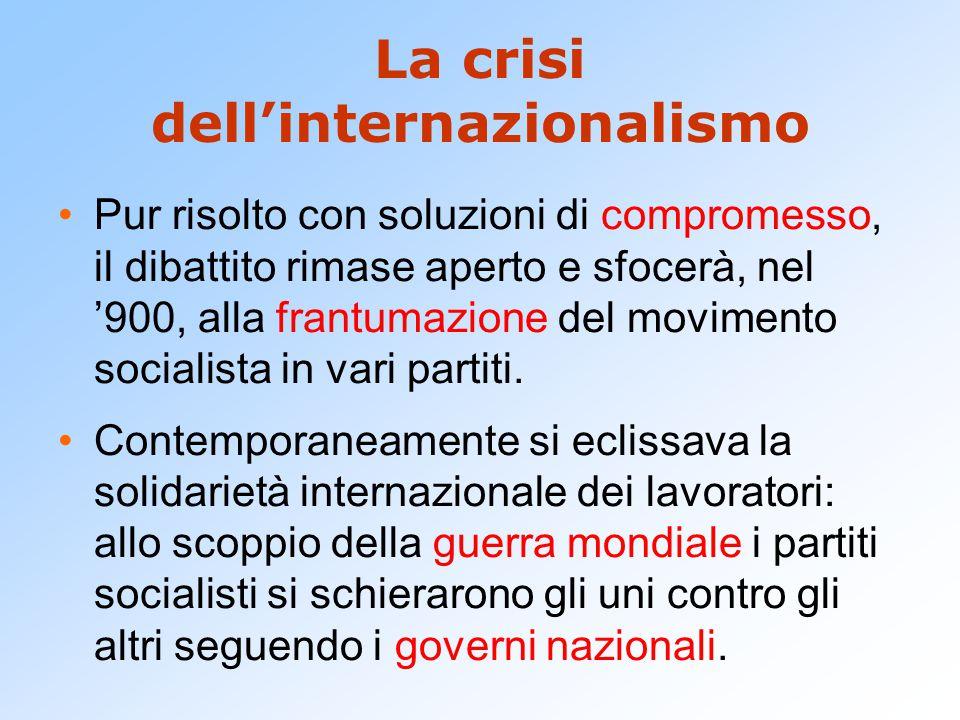 La crisi dell'internazionalismo