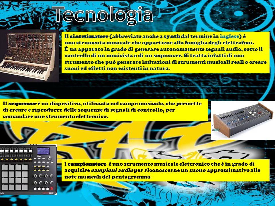 Tecnologia LA STORIA NELLA MUSICA LA MUSICA NELLA STORIA.